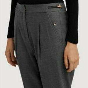 Kit and Ace grey Claren wool blend pants